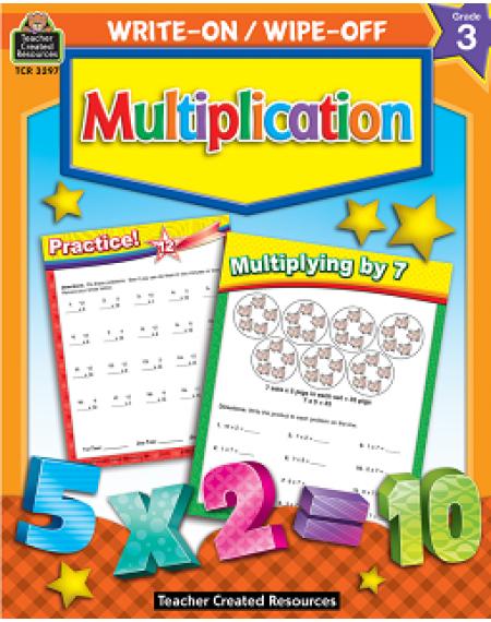 Multiplication Write-On/Wipe-Off Workbook