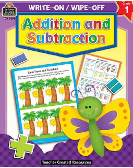 Addition and Subtraction Write On/Wipe Off Workbook